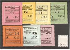 CINDERELLA -PP02- GB - DAVID MACBRAYNE - NEWSPAPER STAMP - 7 VALUES  - MINT