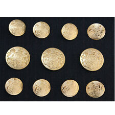 Gold Metal Blazer Buttons Set For Suit Blazer Sport Coat