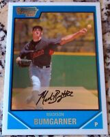 MADISON BUMGARNER 2007 Bowman CHROME 1st Rookie Card RC San Francisco Giants HOT