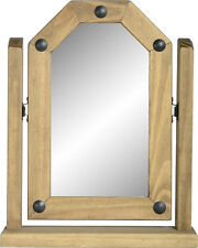 CORONA Single Swivel Mirror in Distressed Waxed Pine Delivery