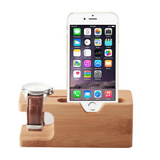 2in1 Desktop Stand Holder Charger Cords Docking Station For Apple Watch iPhone