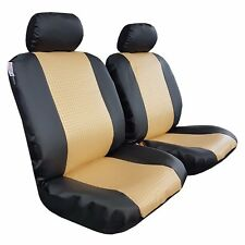 New Pair Front Universal Size Woven Leatherette Car Seat Covers For Honda Accord