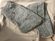 J. CREW LUDLOW SLIM SUIT PANT IN FLORAL JAPANESE COTTON STYLE SIZE 30/32