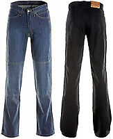 Draggin Classic Jeans Mens Blue Denim Kevlar Lined Trousers Size 42