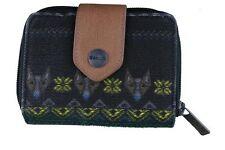 Bench Womens Black Lovelock Bramhall Card Wallet Coin Purse Aztec Dogs NWT