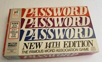 Vintage Password New 14th Edition Board Game Factory Sealed 1962