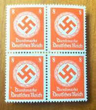 EBS Germany 1942 8 Pfennig Official Swastika Dienst BLOCK 4 Michel 170 MNH**
