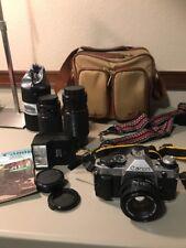 Canon AE-1 Program 35mm Camera  Lens, CLA, and More! Camera Caddy Etc !!!!