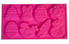Easter Bunny Chick Egg silicone Chocolate mould mold cup cake CHOCOLATE
