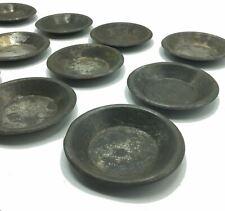 More details for 12 x antique individual baking tart tins 3 1/2