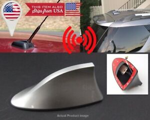 Roof Silver Shark Fin Vortex Stereo Radio Aerial Signal Antenna FM for Audi BMW