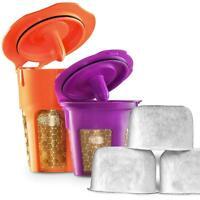 DI ORO 24K Gold Reusable K-Carafe/K-Cup & Charcoal Water Filters for Keurig 2.0