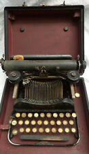 Antique Yellow Glass Keys L.C Smith & Corona Folding Typewriter And Carry Case
