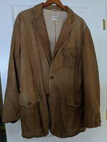 Armani Collezioni Leather Jacket Hunting Shooting Leather Blazer Sport Coat