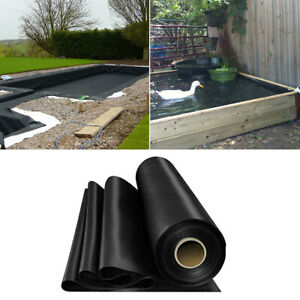 Heavy Duty 200gsm Garden Fish Pond Liners Liner Pool HDPE Membrane Reinforced UK