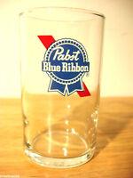 Pabst beer glass PBR glasses pub 2 color vintage 7 OZ vintage glassware