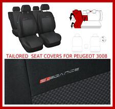 Totalmente adaptado cubiertas de asiento de Coche para Peugeot 3008 2008 - 2016 Juego Completo