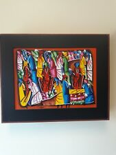 African/Caribbean Women in Marketplace  Painting on Canvas