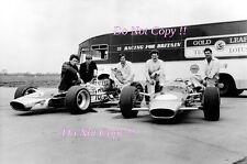 Gold Leaf Lotus F1 Team Portrait 1968 Photograph
