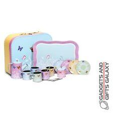 Papillon charmant tin tea set 18 pièces jouet filles enfants cadeau nouveauté enfants