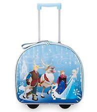 Disney NWT Frozen Elsa Anna Light Up Rolling Luggage Suitcase Suit Case