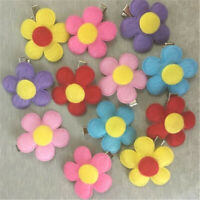 2Pcs Cute Pet Dog Cat Puppy Grooming Hairclip Flower Hair Clip Bow Accessories