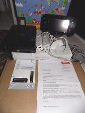 Wii NINTENDO Black Games U Console & Sensore & 2 Controller 32 GB Nero in scatola NUOVO