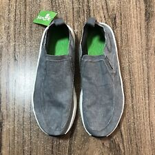 A1103 Sanuk Chiba Quest Slip On Mens Size 10 Gray Shoes NEW