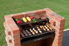 Heavy Duty Brick BBQ Kit with Stainless Steel Grills + Cover BKB402 Black Knight