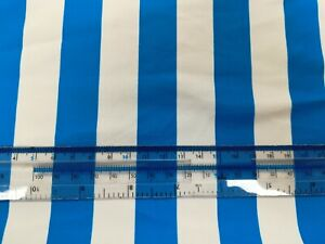 BLUE 22MM STRIPED LYCRA 50cm