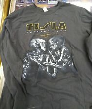 Tesla Rare Forever More Long Sleeve Concert Shirt Size Xl - New