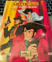 COFANETTO DVD MANGA CULT ANIME TV ANNI 80,LUPIN 3 TERZA SERIE BOX.1 jigen,margot