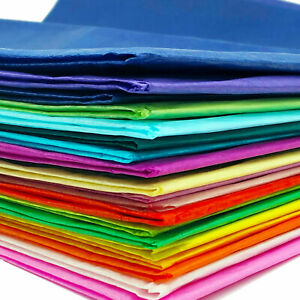 20 Sheets Coloured Tissue Paper for Arts Crafts Gift Wrapping 50cm X 66cm