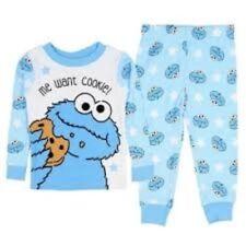 Sesame Street Cookie Monster Toddler Boy Pajamas Me Want Cookie 24 Months New PJ