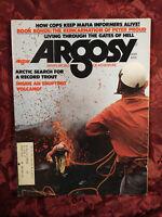 ARGOSY Magazine May 1975 MAX EHRLICH ARCTIC FISHING STROMBOLI