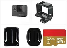 Used GoPro HERO 5 Black Action Camcorder 4K Ultra HD Camera Frame 32GB card Kit