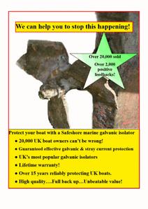 Sacrificial anodes not lasting? Corrosion on hull? 70 amp boat galvanic isolator