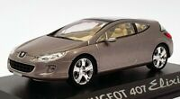 Norev 1/43 Scale Model Car 474730 - Peugeot 407 Elixir - Metallic Grey