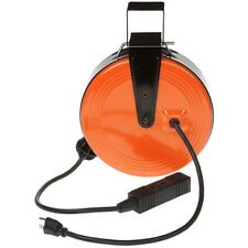 Retractable Cord Reel 30 ft. 16/3 Heavy-Duty with 3-Outlets Mounting Bracket