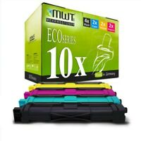 10x MWT Eco Toner Compatible Para Brother HL-3170-CDW DCP-9020-CDW MFC-9330-CDW