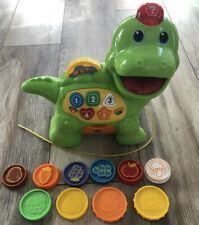 Vtech Chomp & Count Dino Talking Green Dinosaur Toy~Educational Learning-Photos!