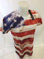 MENS TRUE ROCK AMERICAN FLAG USA STARS and STRIPES T Shirt  S M L XL 2XL NWT 526
