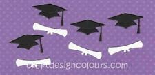 DIE CUT - 4 SETS X GRADUATION HAT AND DIPLOMA
