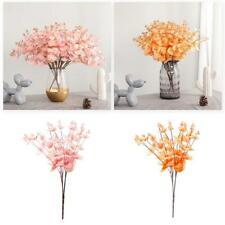Flower Plants Eucalyptus Wedding Party Home Decor Artificial 5 Twigs 20 Heads