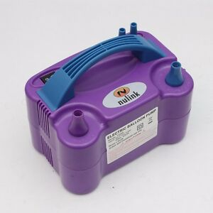 Purple Portable Power Two Nozzle Color Air Blower Electric Balloon Inflator Pump