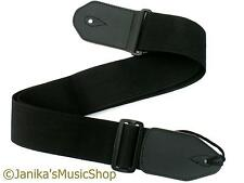 Extra wide and strong electric bass guitar strap adjustable with leather ends