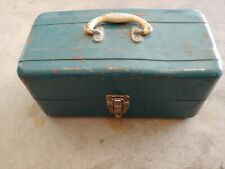 Vintage Union Steel Fishing Tackle Box, lines & Other Lures Tackle