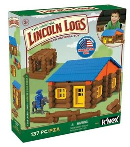 New LINCOLN LOGS Oak Creek Lodge 137 PC Ages 3+ Construct Education Toy NEW