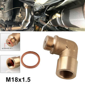 Exhaust O2 Bung Extension M18X1.5 Oxygen Sensor Angled Extender Spacer 90 Degree