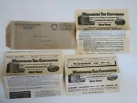 Vintage Westminster Tire Corporation Advertisement Catalog & Stock Sheet 1932